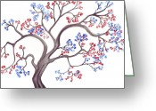 Inkwash Greeting Cards - Springs Promise Greeting Card by Rebecca Blain