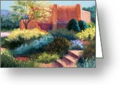 Adobe Pastels Greeting Cards - Springtime Adobe Greeting Card by Candy Mayer