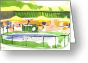 Knob Greeting Cards - Springtime at Fort Davidson Motel Greeting Card by Kip DeVore