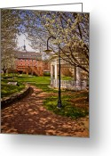 Gazebo Greeting Cards - Springtime in Riverside Park Greeting Card by Robert Clifford