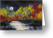 Colours Pastels Greeting Cards - Sprinkling of Moonlight Greeting Card by John  Williams
