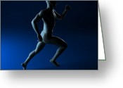 Sprinting Greeting Cards - Sprinter, Artwork Greeting Card by Sciepro
