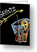 T-shirt Greeting Cards - Spritz Aperol T-shirt Design Venice Italy - Venezia Veneto Italia Greeting Card by Arte Venezia
