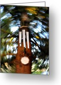 Chimes Greeting Cards - Spun Chime Greeting Card by Noah Cole