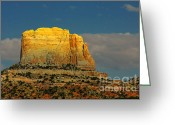 Dusk Greeting Cards - Square Butte - Navajo Nation near Kaibeto AZ Greeting Card by Christine Till