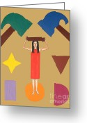Merchandise Painting Greeting Cards - Square Peg Round Hole Greeting Card by Patrick J Murphy