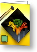 Lunch Greeting Cards - Square plate Greeting Card by Garry Gay