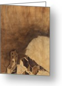 Anasazi Greeting Cards - Square Tower Greeting Card by Jack Atkins