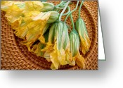 Eatable Greeting Cards - Squash Blossoms Greeting Card by James Temple