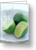 Food And Beverage Greeting Cards - Squeezed Lime Greeting Card by David Munns