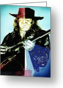 Player Mixed Media Greeting Cards - Srv Greeting Card by Kathleen Kelly Thompson