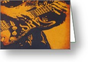 Ray Greeting Cards - SRV  Number One Fender Stratocaster Greeting Card by Eric Dee