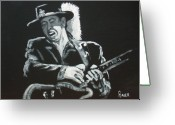 Blues Greeting Cards - Srv Greeting Card by Pete Maier