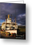 Klondike Greeting Cards - S.S. Klondike under Midnight Sun Greeting Card by Charline Xia