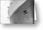 Cruise Ship Greeting Cards - SS Rotterdam Abstract Greeting Card by Dean Harte