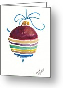 Holiday Notecard Greeting Cards - SStriped Antique Ornament Greeting Card by Michele Hollister - for Nancy Asbell