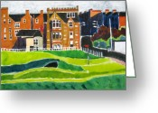 Open Road Painting Greeting Cards - St Andrews 17 Greeting Card by Lesley Giles