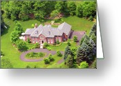 Chestnut Hill Wyndmoor Blue Bell Aerial Photographs Greeting Cards - St Andrews Road Chestnut Hill Philadelphia 2 Greeting Card by Duncan Pearson