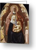 Grandson Greeting Cards - St. Anne, Madonna & Child Greeting Card by Granger