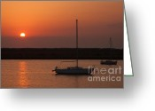 Boats Greeting Cards - St. Augustine Sunrise Greeting Card by Clarence Holmes