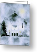 Smudgeart Greeting Cards - St. Boniface Cathedral Greeting Card by Madeline M Allen
