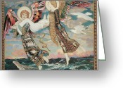 Seagulls Greeting Cards - St. Bride Greeting Card by John Duncan