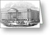 St. Charles Greeting Cards - St. Charles Hotel, 1853 Greeting Card by Granger