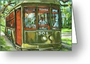 Trolley Greeting Cards - St. Charles No. 904 Greeting Card by Dianne Parks