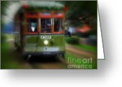 St. Charles Greeting Cards - St. Charles Streetcar Greeting Card by Perry Webster