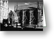 Johnston Greeting Cards - St Columbas free church johnston terrace edinburgh scotland uk united kingdom Greeting Card by Joe Fox