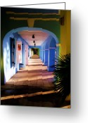 Islands Digital Art Greeting Cards - St. Croix Arches  Greeting Card by Linda Morland