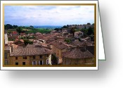 Wine Cellars Greeting Cards - St. Emilion View Greeting Card by Joan  Minchak