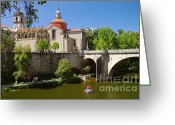 Monastery Greeting Cards - St Goncalo Cathedral Greeting Card by Carlos Caetano