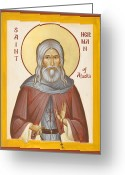 Kodiak Painting Greeting Cards - St Herman of Alaska Greeting Card by Julia Bridget Hayes