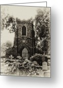 Churchyard Greeting Cards - St James the Less - East Falls Philadelphia Greeting Card by Bill Cannon