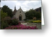 Pottery Photo Greeting Cards - St Joan of Arc Chapel Greeting Card by Peter Skiba
