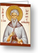 Julia Bridget Hayes Greeting Cards - St John Climacus Greeting Card by Julia Bridget Hayes