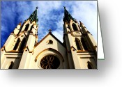 Dana Oliver Greeting Cards - St. John the Baptist Cathedral Greeting Card by Dana  Oliver