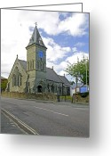 Church Greeting Cards - St John The Evangelist Church at Wroxall Greeting Card by Rod Johnson