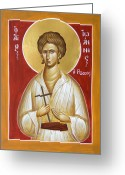 Byzantine Icon Greeting Cards - St John the Russian Greeting Card by Julia Bridget Hayes