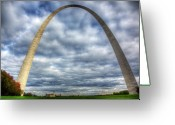 St.louis Cardinals Greeting Cards - St. Louis Arch Greeting Card by Shawn Everhart