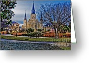 Louisiana Greeting Cards - St. Louis Cathedral Greeting Card by Scott Pellegrin