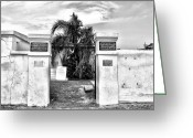 Cemetery Gate Greeting Cards - St Louis Cemetery Gate - New Orleans Greeting Card by Bill Cannon