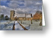 Churchyard Greeting Cards - St Margarets Church Ridge Hertfordshire Greeting Card by Chris Thaxter