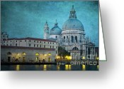 Church Greeting Cards - St Maria della Salute from St Marks  Greeting Card by Marion Galt