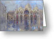 Marks Greeting Cards - St Marks -Venice Greeting Card by Peter Miller