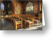 Birmingham Greeting Cards - St Martin Church Birmingham 1.0 Greeting Card by Yhun Suarez