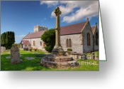 Graves Greeting Cards - St Mary 1080 Greeting Card by Adrian Evans
