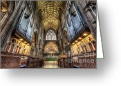 Lights Digital Art Greeting Cards - St Mary Greeting Card by Adrian Evans