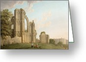Sat Greeting Cards - St Marys Abbey -York Greeting Card by Michael Rooker